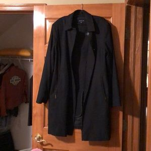 Ladies black lined dress coat